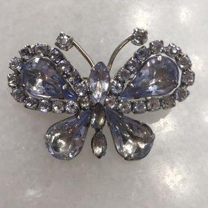 Jewelry - Crystal Butterfly Brooch Pin